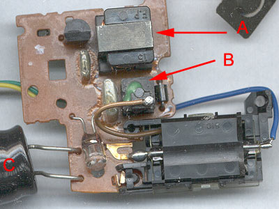 Camera flash circuit